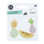Ecussons thermocollants - Ananas, Melon - or