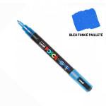 Marqueur PC-3M pailleté pointe conique fine - Bleu foncé