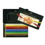Boîte en métal de 12 crayons de couleur Polychromos