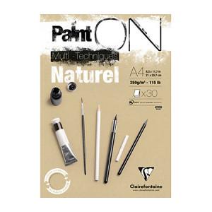Bloc Paint'On papier Naturel 250 g/m² 30 F - 21 x 29,7 cm (A4)