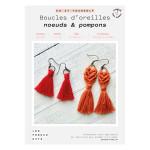 Kit DIY Boucles d'oreilles nœuds & pompon