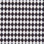 Coupon de tissu - Losanges - noir - 50 x 140 cm