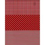 Feuille Décopatch - Pois et rayures rouge et blanc - 30 x 40 cm