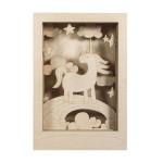 Cadre en bois 3D à monter Kit Licorne 20 x 30 x 6.5 cm