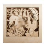 Cadre en bois 3D à monter Kit Paresseux 24 x 24 x 6.5 cm