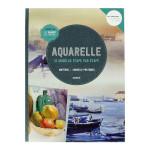 Livre Aquarelle 12 modèles étape par étape