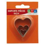 Emporte-pièces Cœurs 3 formats