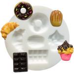 Moule en silicone pour miniatures thème gourmandises
