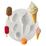 Moule en silicone pour miniatures thème glaces
