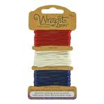 Cordons pour Bracelets Wrapit™ Loom - bleu / blanc / rouge