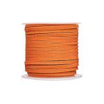 Lacet en suédine 5m - Orange