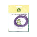 Cordon en coton 1mm par 1.5m - Violet