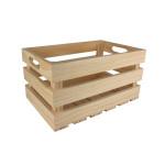 Caisse de rangement vintage en bois - 32,5 x 32,5 x 17 cm