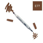 Marqueur à alcool double-pointe Ciao - E77 Marron