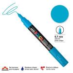 Marqueur pointe conique PC-1MC extra-fine 1mm - Bleu clair