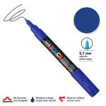 Marqueur pointe conique PC-1MC extra-fine 1mm - Bleu foncé