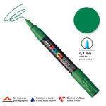 Marqueur pointe conique PC-1MC extra-fine 1mm - Vert foncé