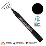 Marqueur pointe conique PC-1MC extra-fine 1mm - Noir