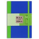 Carnet 10 x 15 cm Bicolore Vert Bleu 60 pages Vert 100 g/m²