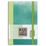 Carnet 10 x 15 cm Bicolore Paons 60 pages Vert 100 g/m²