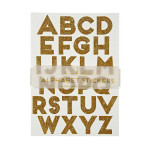 Alphabet stickers or x 10 pcs