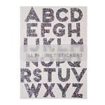 Alphabet stickers paillettes multicolore x 10 pcs