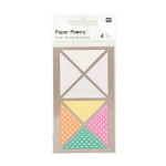 Triangles fluo autocollants x 4 planches