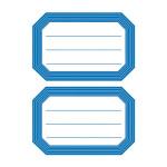 Pochette de 12 étiquettes scolaires autocollantes bord épais bleu
