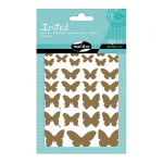 Gommettes Initial papillons x 4 planches