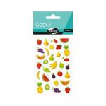 Stickers 3D Cooky Kawai fruits