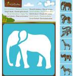 Set de 6 pochoirs enfants - Animaux de la savane