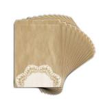 Sachet papier kraft imprimé Dentelle 13 x 18 cm 12 pcs