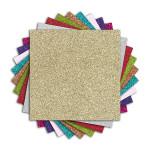 Bloc de papiers pailletés 9 couleurs 18 feuilles 150 g/m² 30,5 x 30,5 cm