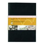 Livre à croquis format portrait couverture noire 120g/m² - 14,8 x 21 cm (A5)