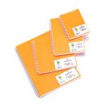Carnet Dessin Notes couverture polypropylène Orange 50 F - 21 x 29,7 cm (A4)