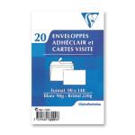 Enveloppe Adhéclair 9 x 14 cm + Carte 20 pcs