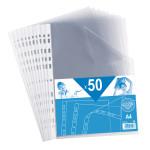 Pochettes perforées A4 par 50