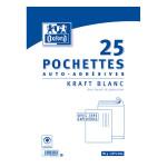 Enveloppe Kraft blanc pré-casée 220 x 320 mm 25 pcs
