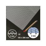 Plaque de métal déployée ondulée motif 2 mm