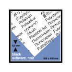 Plaque de plastique noire opaque 40 x 50 cm ep. 0,5 mm