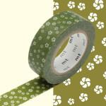 Masking Tape Fleurs ocre Nejiriume Uguisu