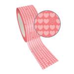 Ruban adhésif décoratif Queen Tape 48 mm x 8 m Cœur rose