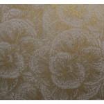 Papier Lokta 50 x 70 cm 150 g/m² Fleurs dorées sur Crème