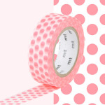 Masking Tape 1P Pois rouge fluo 15 mm x 10 m