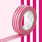 Masking Tape 1P Ligne framboise 15 mm x 10 m