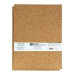 Plaque de liège grain fin 30 x 40 cm ep. 3 mm - 2 pcs