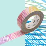 Masking Tape x Artist Kapitza Hachures multicolores 15 mm x 10 m