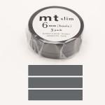 Masking Tape Slim basic Gris 6 mm x 10 m 3 pcs