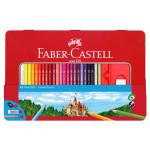Crayon de couleur Boite Métal Château 48 pièces