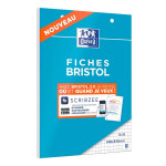 Fiche Bristol 2.0 Perforée 30 fiches 14,8 x 21 cm A5
